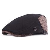 貝雷帽-溫暖毛呢英倫格子男女鴨舌帽73tv99[時尚巴黎]