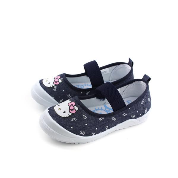 Hello Kitty 凱蒂貓 娃娃鞋 布鞋 童鞋 深藍色 中童 718621 no768