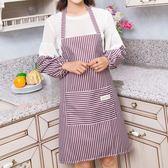 廚房防油圍裙套裝帶袖套兩件套