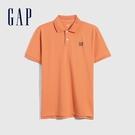 Gap男裝 Logo朱蒂網眼布POLO衫 897003-橙色