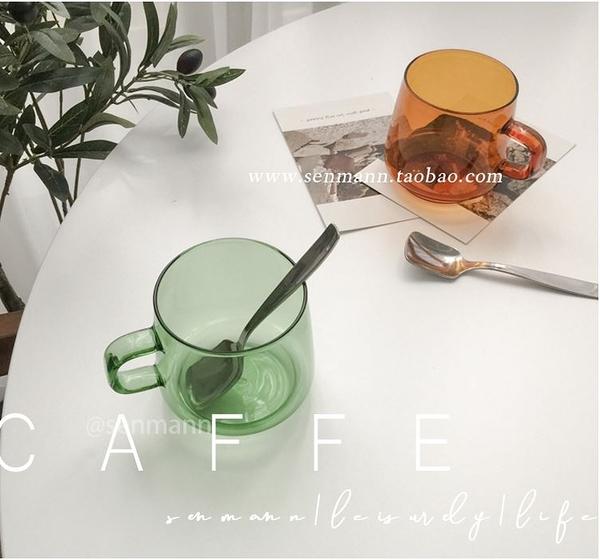 日式咖啡杯 拿鐵杯 手衝咖啡杯 玻璃水杯 家用馬克杯 極簡雜貨