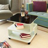 邊几現代簡約沙發邊几客廳移動角几迷你小茶几鋼化玻璃話几床頭櫃