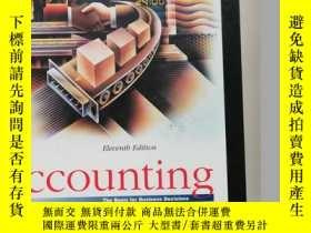 二手書博民逛書店Accounting:The罕見basis for busine