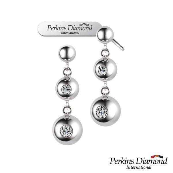 鑽石耳環 PERKINS 伯金仕 Anne系列 18K金 0.14克拉鑽石耳環