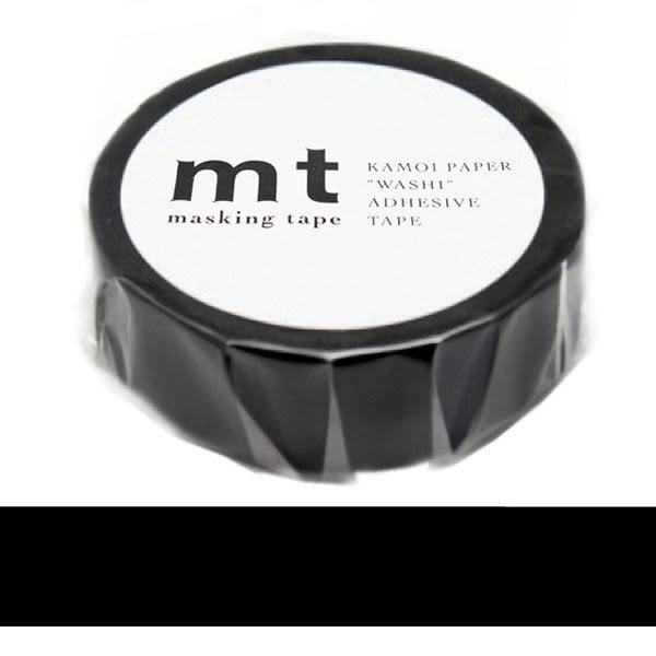 日本mt Masking Tape 和紙膠帶 黑色 15mm