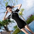 泳衣女新款游泳衣女學生韓版保守泡溫泉遮肚泳裝感性感泳裝 快速出貨