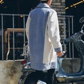 冬季文藝清新加厚麂皮絨雙排扣大衣韓版中長款寬鬆風衣潮流外套男叢林之家