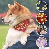 日本式純棉面料和風系列寵物三角巾圍巾配飾狗狗口水巾帶項圈【宅貓醬】