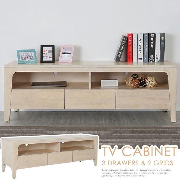 電視櫃《YoStyle》克林實木電視櫃-洗白色 矮櫃 收納櫃 置物櫃