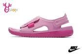 NIKE SUNRAY ADJUST 5 (GS/PS) 中童 涼鞋 運動型防潑水涼鞋 P7081#粉紅◆OSOME奧森鞋業