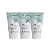 Derma 丹麥 寶寶系列 - 有機水嫩洗髮沐浴露 150ml 3入組