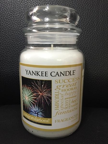 YANKEE CANDLE 香氛蠟燭 美國帶回 CONGRATULATIONS