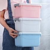 3個裝衣物收納盒帶蓋儲物箱手提塑料整理箱【聚寶屋】