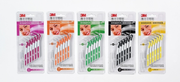 【3M】護齒牙間刷 L型*12支入/卡* (5種尺寸)