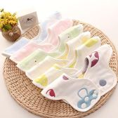 3條裝0-1歲嬰兒純棉六層紗布防口水巾寶寶360度旋轉花瓣夏季可愛圍嘴