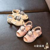 兒童涼鞋女童涼鞋新品正韓童鞋夏季露趾0公主鞋1-5歲2花朵6學生4兒童 耶誕交換禮物