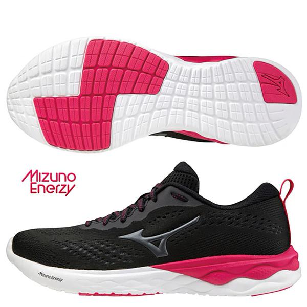 MIZUNO WAVE REVOLT 2 女鞋 慢跑 休閒 緩衝 回彈 黑【運動世界】J1GD218509