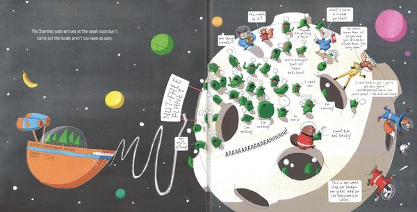 【麥克書店】NUTS IN SPACE /英文繪本《主題: 車子.趣味》內附QR code
