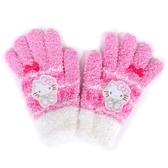 Sanrio HELLO KITTY女童用可愛針織保暖手套(蝴蝶結)★funbox★ _846058