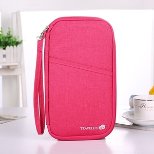 HONEY COMB 出清 韓國多色護照夾 旅行收納包 證件包 七色GT-3204 桃紅