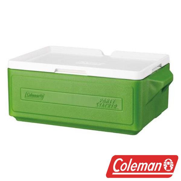 【美國Coleman】 23.5L置物型冰桶 綠 CM-1327J 露營 冰桶 保冷 保溫 保冰
