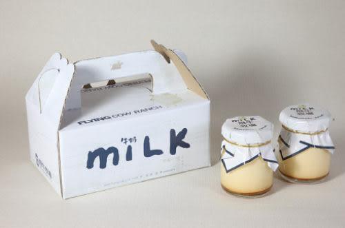 [宅配團購美食]【飛牛牧場.牛奶生活館.烤布丁6入】柔軟香草棒莢顆粒提味