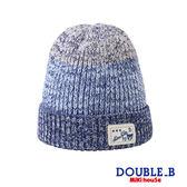 DOUBLE_B  漸層雪花編織毛帽(藏藍)