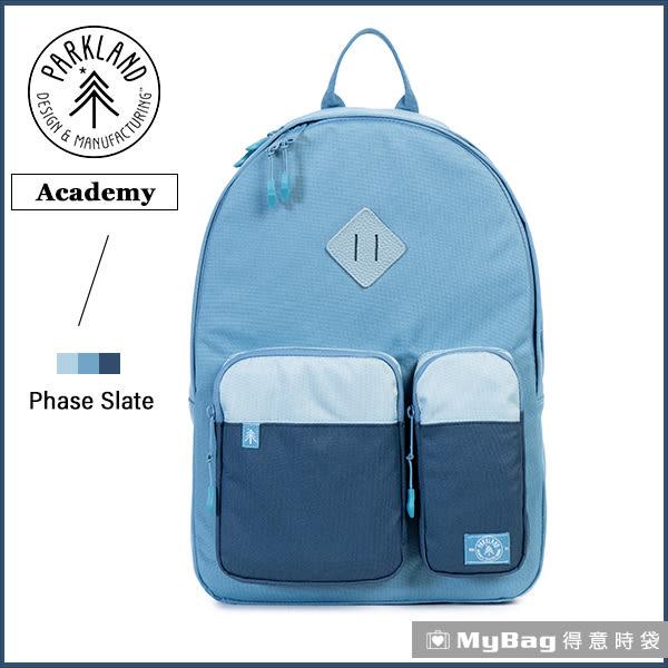 Parkland 後背包  藍色  電腦後背包  多功能休閒後背包 Academy-059 MyBag得意時袋