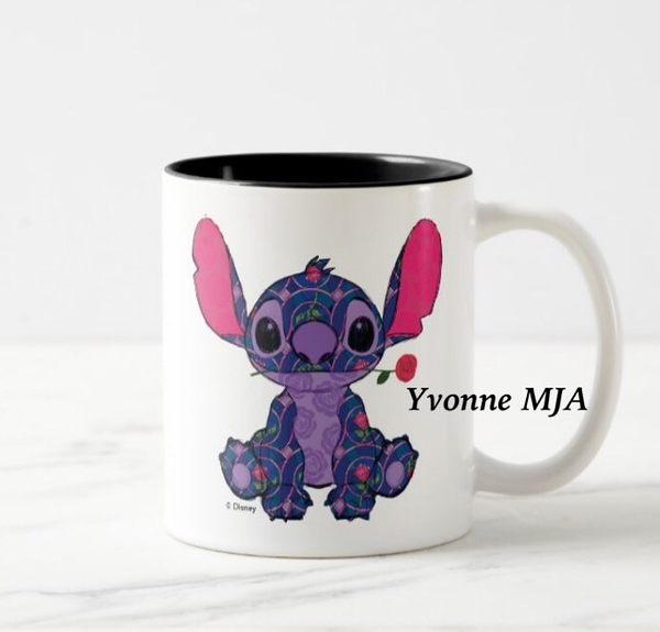 *Yvonne MJA*美國迪士尼預購區限定正品 限量版 美女與野獸聯名 史迪奇 精緻馬克杯