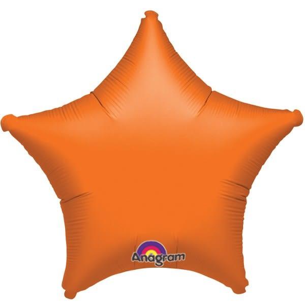 18吋星星鋁箔氣球(不含氣)-香吉士橘