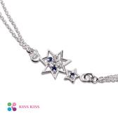 KISSKISS星願系列 湛藍眼純銀手鍊