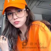 裝飾眼鏡/女金屬復古圓臉平光鏡架「歐洲站」