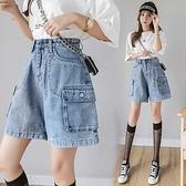 短褲牛仔短褲女夏寬松闊腿時尚網紅ins超火薄款直筒高腰顯瘦NE245快時尚