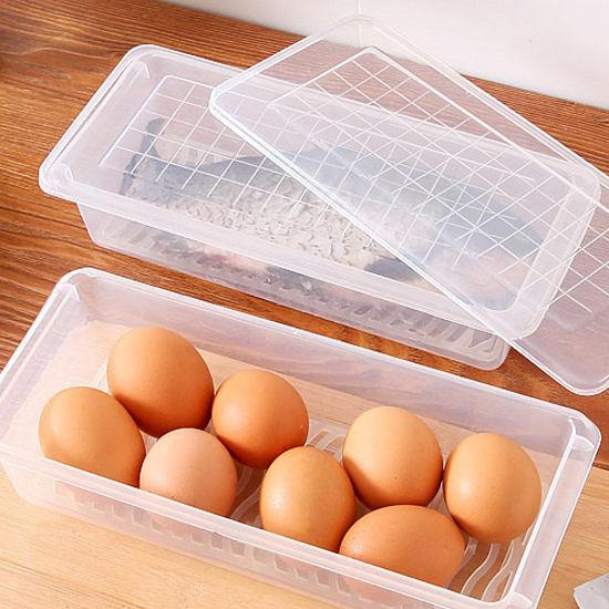 ◄ 生活家精品 ►【J156】收納瀝水保鮮盒 廚房 果蔬 魚肉 儲存 分類 密封 生鮮 沙拉 餐具 新鮮