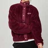 Nike NSW jkt plush vrsty 女款 酒紅 毛絨 運動 休閒 長袖 外套 CU6424-638