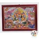 財寶天王木框掛圖33公分【十方佛教文物】