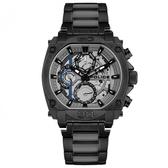 【台南 時代鐘錶 POLICE】義式潮流 Norwood 三眼日期腕錶 15472JSB-13M 黑/灰 45mm