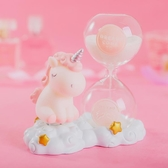 沙漏計時器兒童卡通創意個性生日禮物益智玩具女孩獨角獸流沙擺件 滿天星