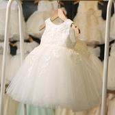 女童公主裙夏裝寶寶禮服春秋女孩連衣裙白紗裙仙洋氣兒童裙子薄款