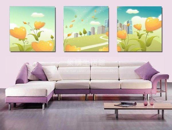 客廳裝飾壁畫/無框畫-花卉類【40*40*0.9三幅】LG-01571098