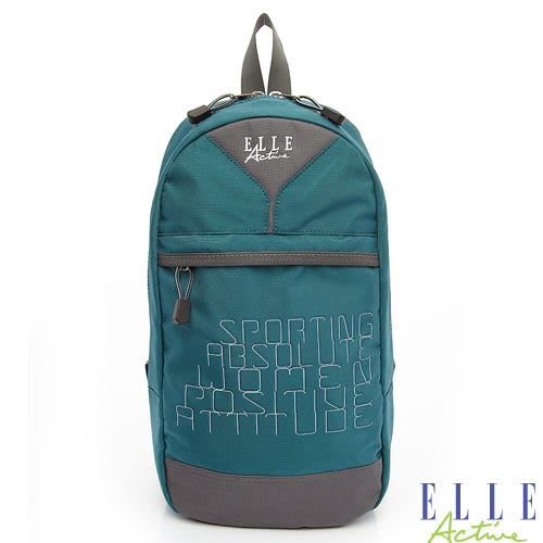 Backbager 背包族【ELLE Active】活力運動風系列 單肩背包/後背包/斜背包(藍綠色)
