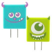【Disney】可愛造型充電轉接插頭 USB充電器-大眼仔/毛怪