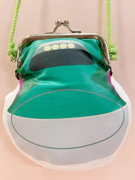 【震撼精品百貨】Shin Kan Sen 新幹線~三麗鷗新幹線珠扣零錢包附繩-綠#79205