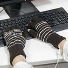 USB發熱手套電發熱USB充電寶加熱自發...