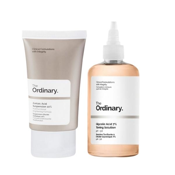 The Ordinary 杜鵑花酸乳霜+甘醇酸去角質化妝水 明星組合精華組