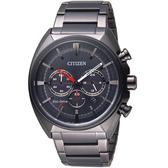 CITIZEN 星辰 光動能碼錶計時男錶 CA4285-50H 黑