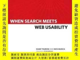 二手書博民逛書店When罕見Search Meets Web Usability