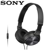 【公司貨-非平輸】SONY 索尼 MDR-ZX310AP 全系列智慧型手機線控耳罩式耳機  黑