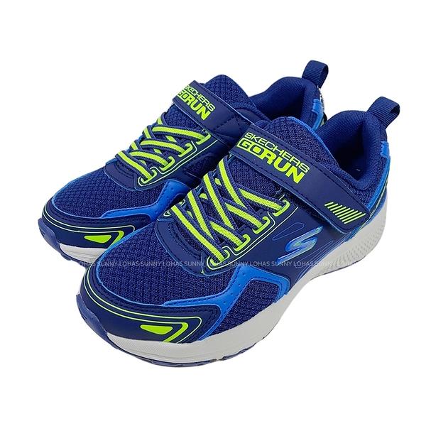 (B9) SKECHERS 男童鞋 GORUN CONSISTENT 慢跑運動鞋 魔鬼氈 405010LBLLM藍綠 [陽光樂活]