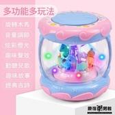 嬰兒 玩具 3-6-12個月聲光 旋轉拍拍鼓 兒童 玩具 1-3歲益智 音樂 手拍鼓